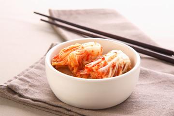kimchi with Chopsticks, korean food
