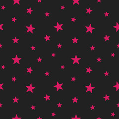 Star seamless pattern. Cute pink stars. Babies Fashion. Vector i