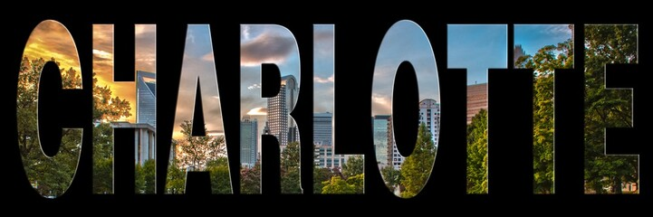 Wall Mural - skyline of charlotte city on north carolina