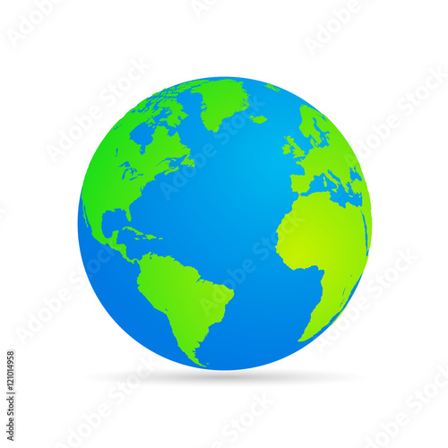 Wall mural Vector planet Earth icon.