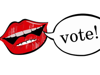 lips with vote bubble