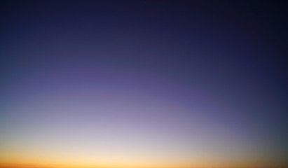 Clear sunset sky