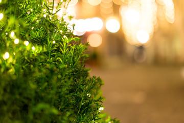 Hintergrund Fussgängerzone im Advent