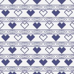 Heart Pixel Pattern