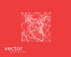 Vector abstract illustration of simple shape - square.