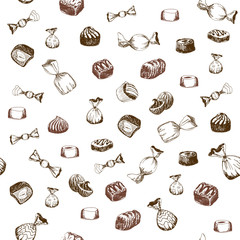 Seamless pattern with sweet