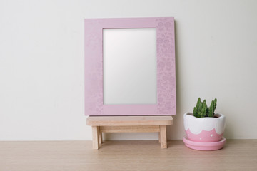 photo frame with blank space.