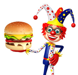 Clown with Burger