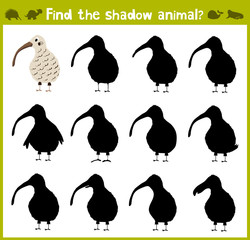 Educational game for children of kindergarten and school age on the development of logic. Birds. Vector