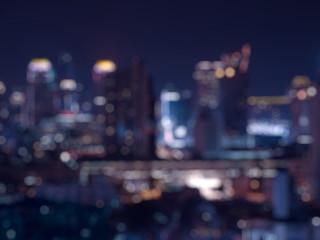 Blur bokeh city night light.