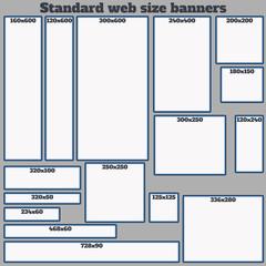 Empty Box Standard size web banners set.