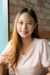 Asian girl ,Portrait beautiful woman when she is smile.