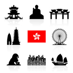 Hong Kong Travel Landmarks.