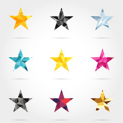 Set of Geometric Shapes Stars
