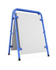 Blank template sandwich board. Blank for copy space. 3d renderin