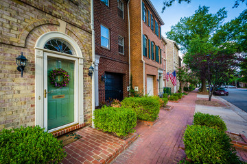 Wall Mural - Houses in the Old Town of Alexandria, Virginia.