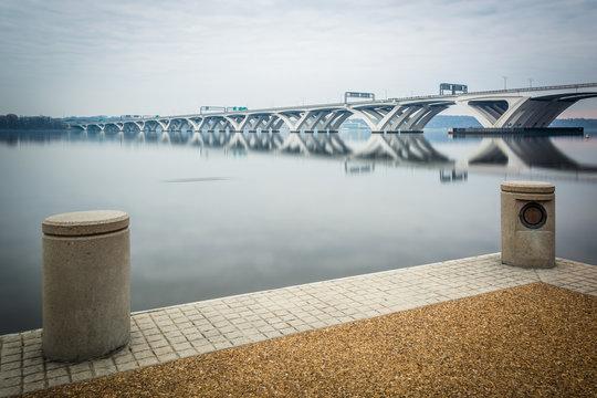 The Woodrow Wilson Bridge and Potomac River, seen from Alexandri