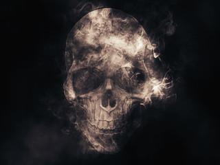 Smoke skull illustration