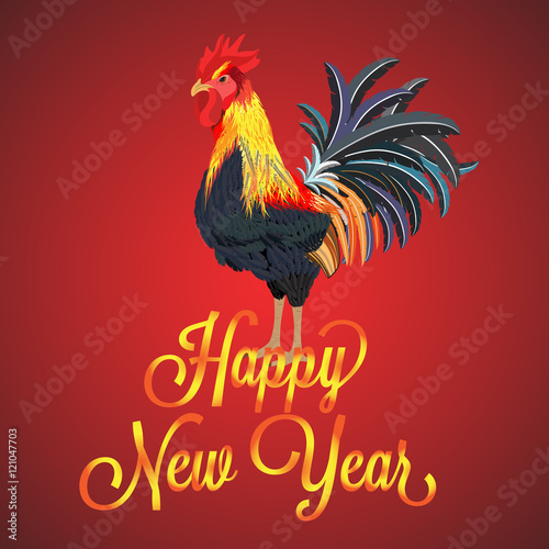 Year of rooster celebrating new year 2017 vector illustration year of rooster celebrating new year 2017 vector illustration graphics elements greeting card chinese new year stock image and royalty free vector m4hsunfo