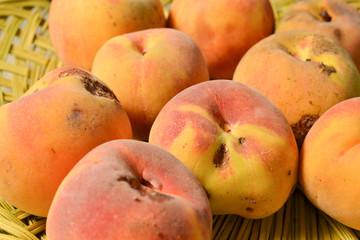 Yellow peach harvest