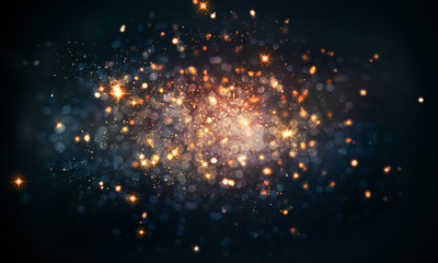 fire sparkles bokeh background