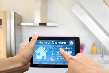 home control device tablet