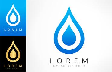 water drop vector logo