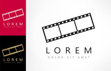 film frame, vector logo