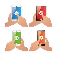 Set of cellphones