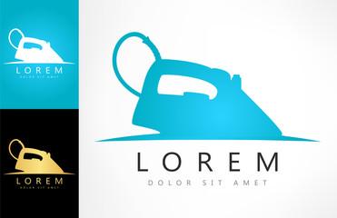 electric iron symbol. Steam iron logo vector.