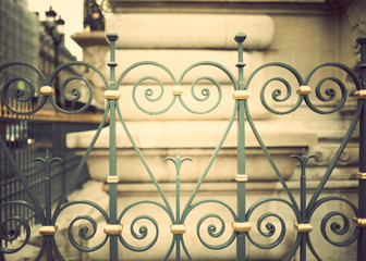 Vintage bronze fences in Paris