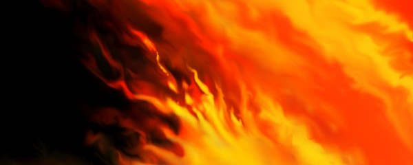 fire on black background, hot flames of red yellow and orange swirl in colorful fiery banner design, dramatic and dangerous idea concept illustration