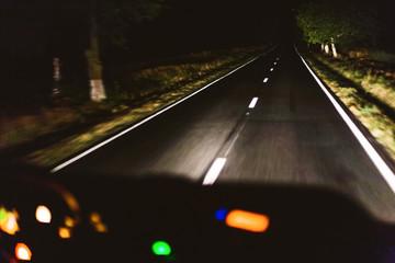 Fast night driving