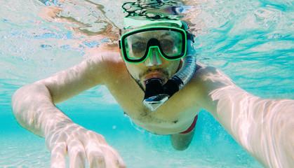 Summer underwater selfie