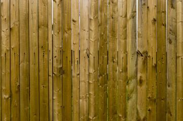 Деревянный обработанный забор