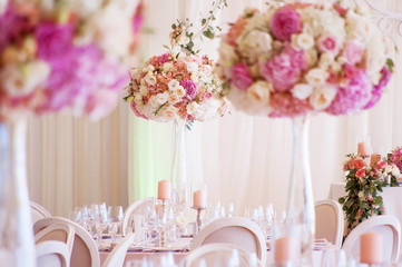 wedding decoration with flowers