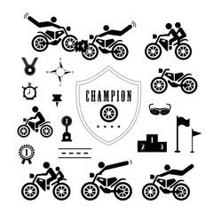 Papier Peint - Motorcycle symbol