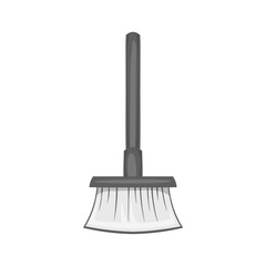 Broom icon in black monochrome style isolated on white background. Cleaning symbol vector illustration
