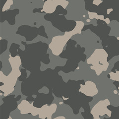 Seamless urban fashion military camo pattern vector