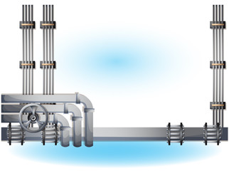 cartoon vector illustration water pipe wall with separated layers in 2d graphic
