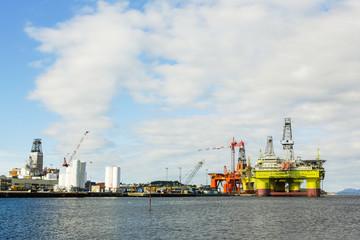 Oil platform under maintenance. Bergen, Norway.