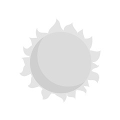 Sun icon in black monochrome style isolated on white background. Heat symbol vector illustration