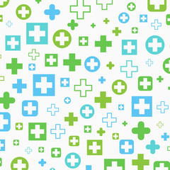 Medical background, Blue and green crosses, vector illustration design