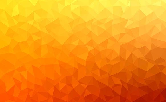Polygonal vector mosaic - red, yellow, orange - autumn colors