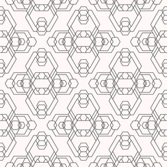 Futuristic Geometry Seamless Vector Pattern made of lines