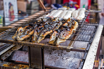 Roasted Eel On the grill
