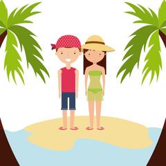 enjoy the vacations holidays vector illustration design