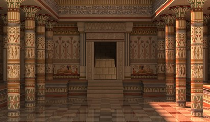 Pharaohs Palace 3D Illustration