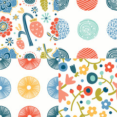 Floral background. Vector illustration. Seamlesws pattern.