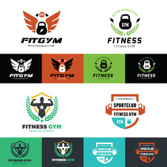 Fitness and GYM logo collection.